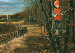 Buck Fever Challenging painting