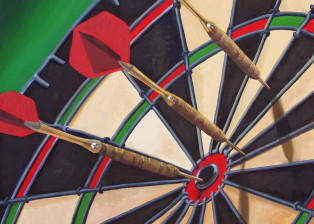 Dart Board painting