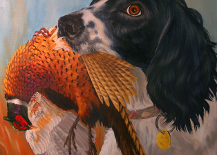 Roxie with Pheasant